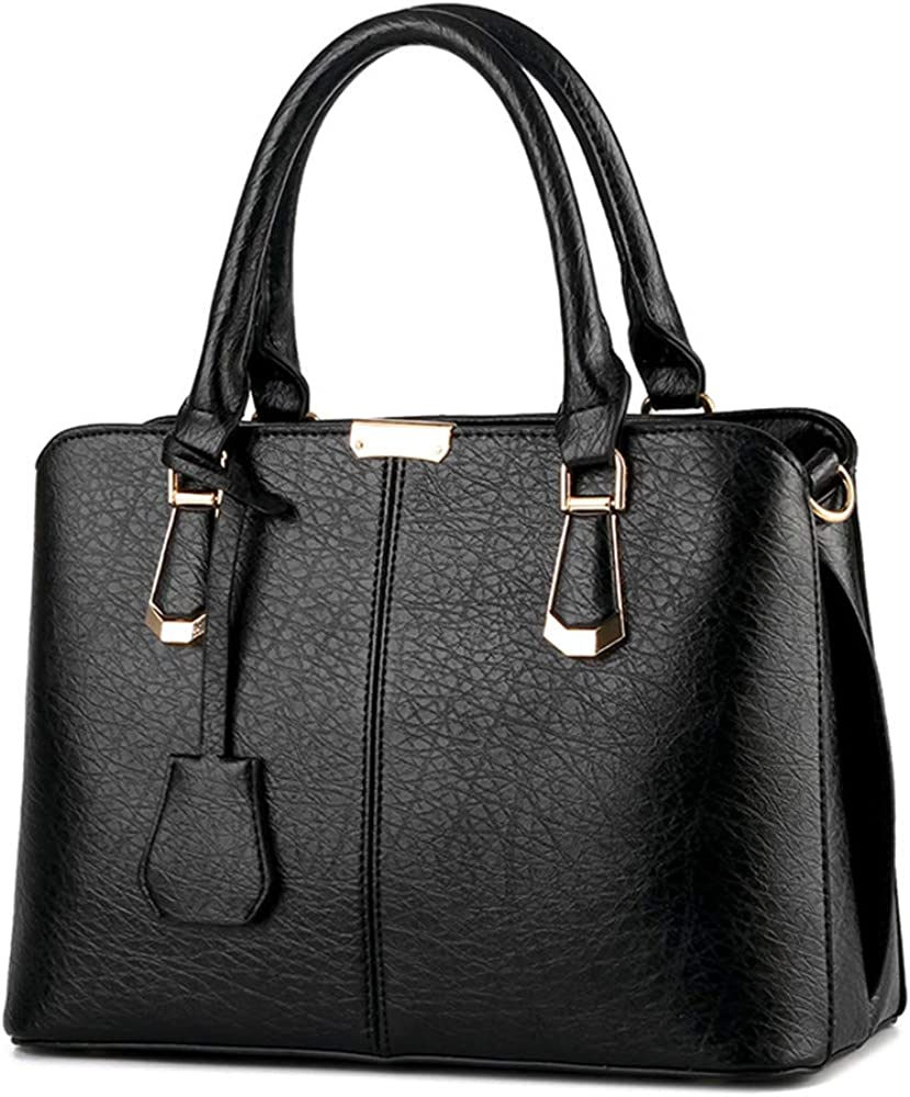 Super special price Women Solid Leather Mid Size Casual Work Satchel Ranking TOP17 Tote Adjustable