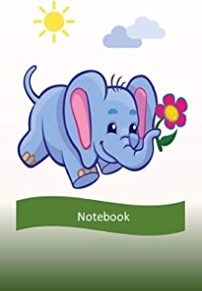 Notebook: Elephant Notebook For Kids - 190 pages - Size 6x9