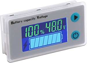 Battery Meter, DROK 48V Digital Battery Remaining Capacity Percentage Level Voltage Temperature Monitor Tester, 10-100V 12V 36V 24V 48 Volt Electric Boat Battery Power Analyzer