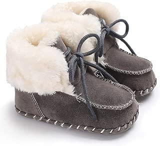 Fnnetiana Newborn Baby Warm Winter Snow Boots Toddler Soft Sole Anti-Slip Infant Prewalker Unisex Nursling Crib Shoes