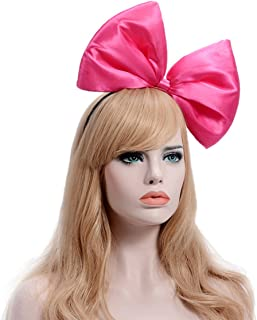 9 Colors Women's Girl's Bow Hair Bands Headdress Big Bowknot Hairband (Rose)
