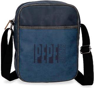 Pepe Jeans Max Bandolera Grande Azul 20x25x6,5 cms Piel Sintética