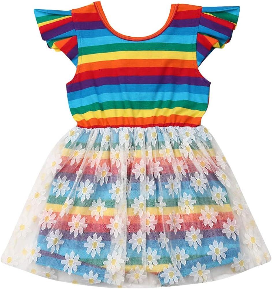 Toddler Baby Girl Floral Summer Under blast sales Dress Sunflower Printed Popular Short Sl