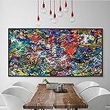 Pintura sin Marco Simple Moderno Abstracto Color salpicado Lienzo Pintura Pared Inicio Pared imagenZGQ2057 60X80cm