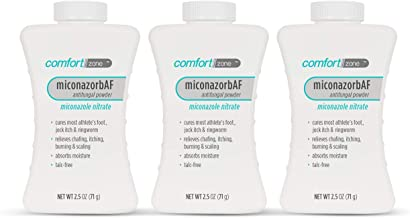 Comfort Zone Miconazorb Antifungal Powder, Talc-Free, Miconazole Nitrate 2%, Helps Cure Most Athlete's Foot, Jock Itch and...