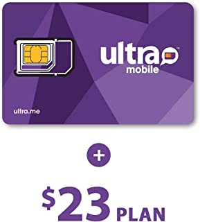 Ultra Mobile $23 Plan with 1 Month Service Included