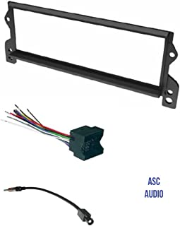 ASC Car Stereo Install Dash Kit, Wire Harness, and Antenna Adapter for installing a Single Din Radio for Select Mini Cooper - Compatible Vehicles Listed Below,
