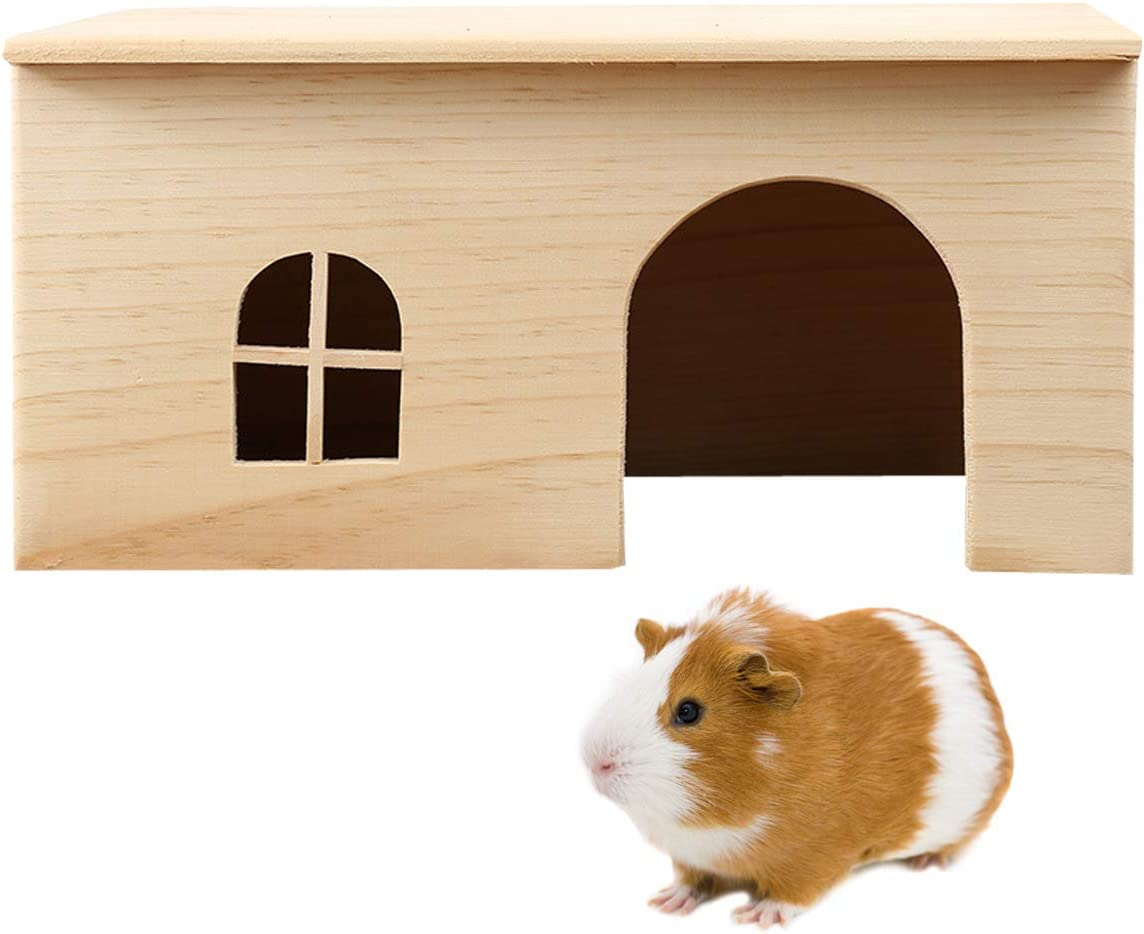 San Diego Mall Hamster Wooden House Small Animals Hideout for Great interest Rat Ger Mice Home