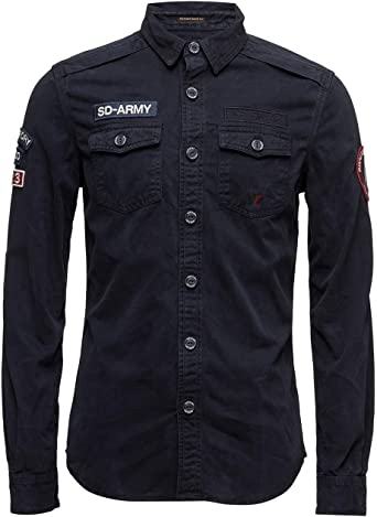 Camisa Superdry SD Army Corps L/S Negra