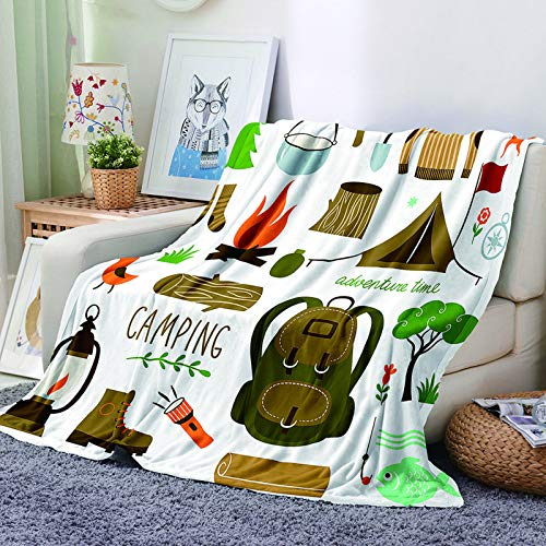 Digital Printing Thick Microfiber Blanket Single Blanket Suitable For Airport, Lounge, Bus Wall Decoration Tapestry