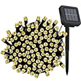 Solar Fairy String Lights Outdoor Waterproof, 33FT 100LEDs Updated...