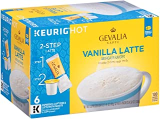 Gevalia Vanilla Latte Espresso K Cup Coffee Pods & Froth Packets (6 Count)