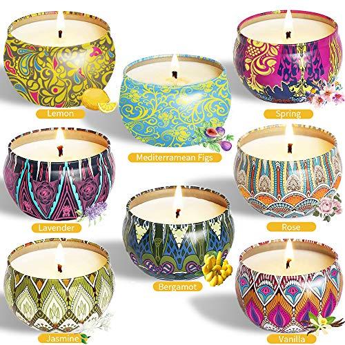 McNory 8 Piezas Regalo de Velas Perfumadas,Velas Aromaticas,