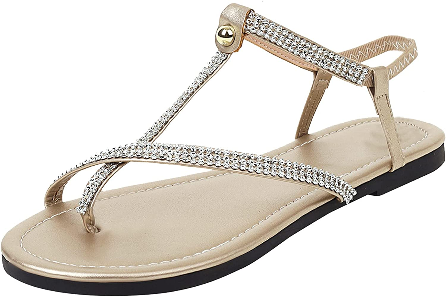 Ladies Shinny Rhinestone Special price for a limited time Beach Sandals Flops flip Flat Si Bombing new work Casual