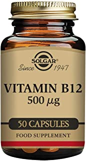 Solgar Vitamina B12 500 µg Cápsulas vegetales - Envase