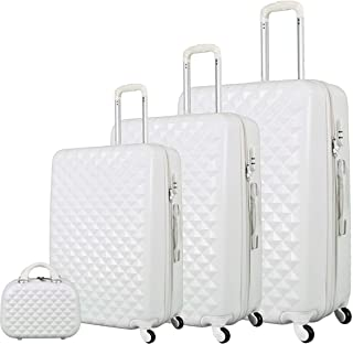 Trolley Travel Bags Set by Morano, 4 Pieces, White, 6686/3p