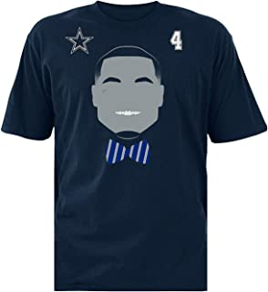 Dak Prescott Youth X-Large (20) Face Time Silhouette Shirt #4 - Navy Blue
