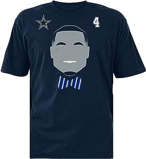Dak Prescott Youth X-Large (20) Face Time Silhouette Shirt #4 - Navy Blue