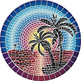 Drop-in Island Sunset Vinyl Swimming Pool Mat (59' x 59')