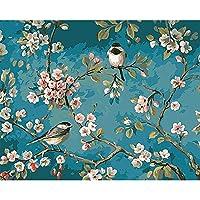 鳥と花DIYダイヤモンド絵画子供家族の壁の装飾子供アートクラフト