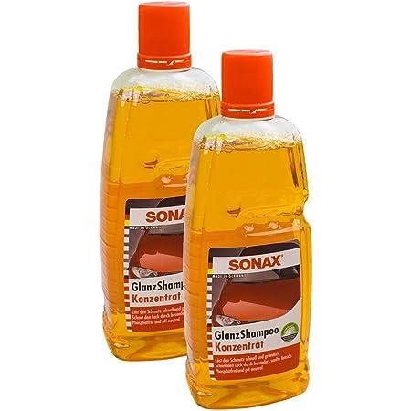 Sonax 2x 03143000 Glanzshampoo Konzentrat Glanz Autoshampoo 1l Auto