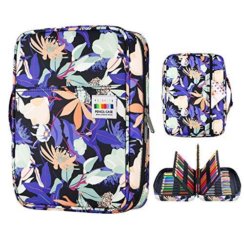 YOUSHARES 220 slots caja de lápices de colores, 145 ranuras gel plumas FO organizador de la caja para colorear, práctico soporte de lápiz de color multicapa 13