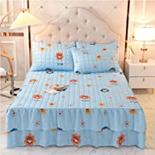 Thicken Mattress Cover Bed Skirt,Quilted Bed Skirt A Piece Mattress Pad Cover Protective Cover Bed Skirt,Bedding Quilted F...