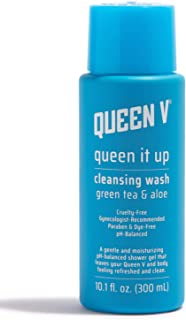 Queen V Feminine Wash, Queen It Up   pH Balanced Vaginal Cleanser   Gentle Shower Gel to Support Feminine Health   Non-Irritating with Green Tea & Aloe, Gynecologist Approved   10.1 fl oz
