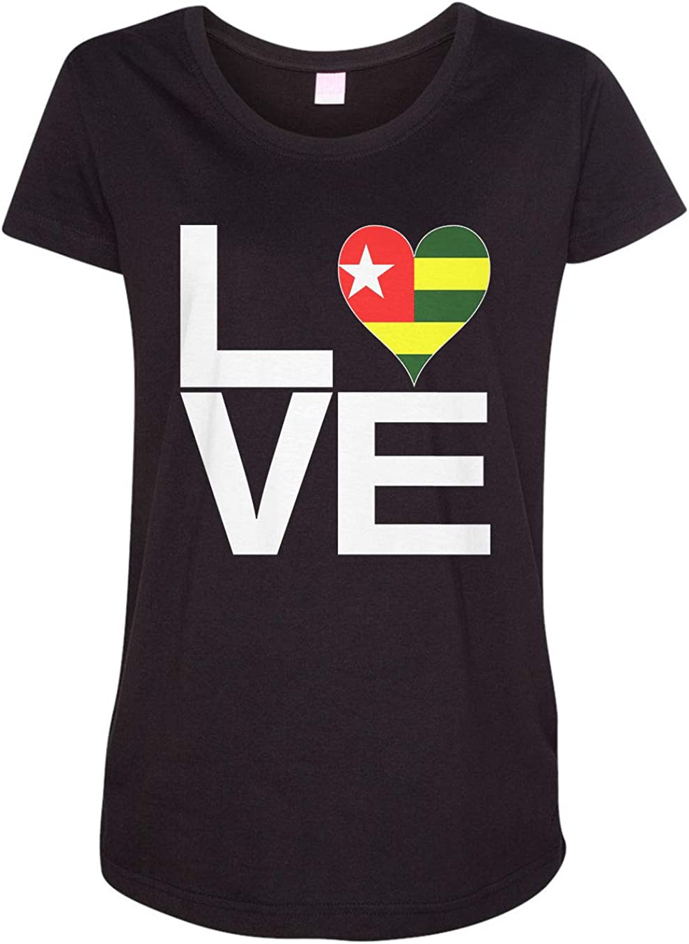 HARD EDGE DESIGN Women's Love Block Togo Heart T-Shirt