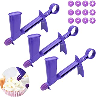 3 Set Plastic Pearl Applicator Fondant Cake Decorating Tool Pearl Ball Applicator for Cakes Extruder Sugar Craft(4 Sizes)