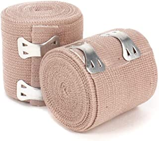 """Ever Ready First Aid 2"""" Elastic Bandage with Clips - Box of 10"""