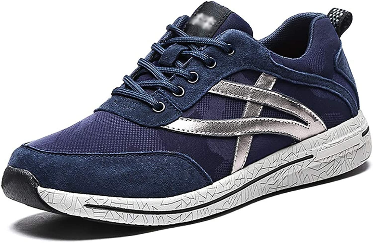 GAIQIN Casual shoes Men's shoes Spring Sports shoes Mesh Running shoes Breathable Casual shoes (color   bluee, Size   43)