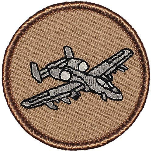 """A10 Warthog Patrol Patch - 2"""" Diameter Round Embroidered Patch (Sew-on)"""