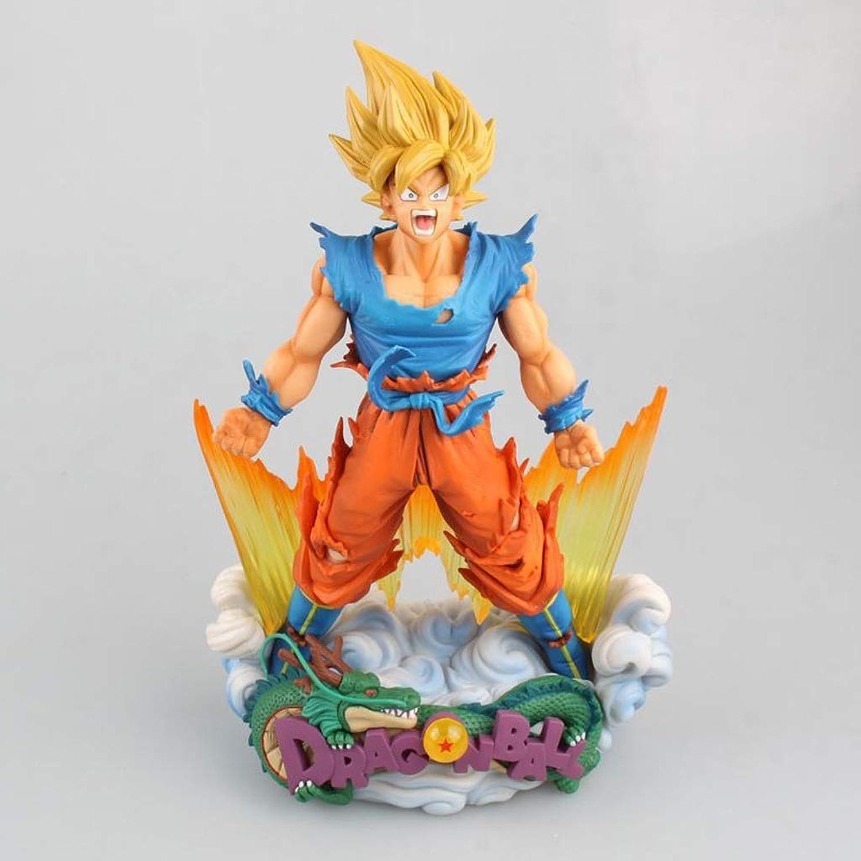 LYN Dragon Ball Exquisite Model SMSD Sun Wukong Super Saiyan Goku Model Statue 23cm Anime Ornament Doll