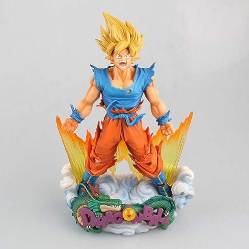 Zhangmeiren Dragon Ball Super Saiyan Modèle de Jouet Anime Jeu de Dessin animé Anime voitureactère Modèle Modèle Statue Souvenir Collection Artisanat