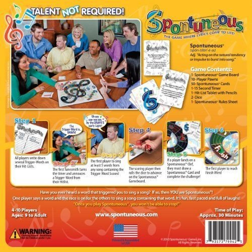 Spontuneous Board Game Classic Edition, 11-Inch by 3-Inch#by:lonlon2001