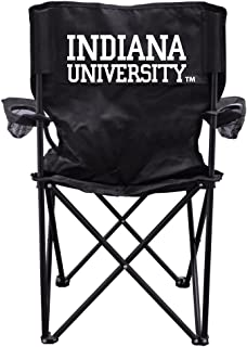 VictoryStore Outdoor Camping Chair - Indiana University Black Folding Camping Chair with Carry Bag