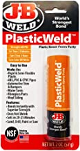 J-B Weld 8237 PlasticWeld Plastic Repair Epoxy Putty – 2 oz.