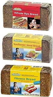 Mestemacher Natural High Fiber Bread 3 Flavor Variety Bundle: (1) Mestemacher Fitness Bread, (1) Mestemacher Rye Bread, an...