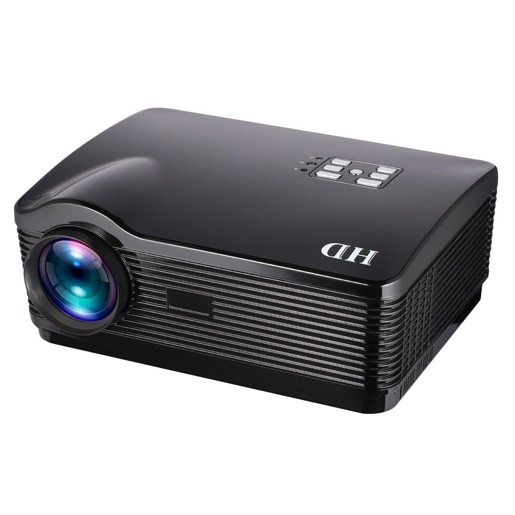 Proyector LED 3000LM Real 1280 * 768p, 1-6M Distancia de Proyección, ángulo Ajustable, Multilingüe, con Control Remoto, Compatible con HDMI / USB / SD / TV digital DTV / etc. (Negro): Amazon.es: Electrónica