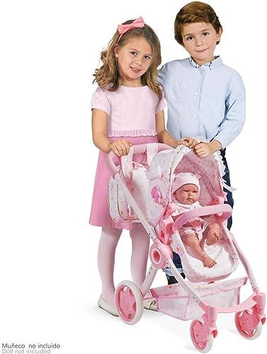 DECUEVAS 85028 Klappbarer Puppenwagen Maria, Mehrfarbig