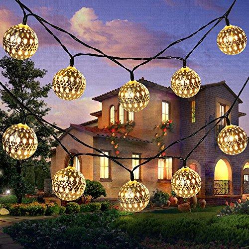 Solar String Light Outdoor, Goodia 30 LED Gold Moroccan...