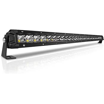 Rigidhorse 32 Inch LED Light Bar Single Row Flood & Spot Beam Combo 30000LM Off Road LED Light Bar Driving Light for Pickup SUV ATV UTV Truck Roof Bumper