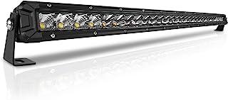 Rigidhorse 32 Inch LED Light Bar Single Row Flood & Spot Beam Combo 30000LM Off Road LED Light Bar Driving Light for Jeep Pickup SUV ATV UTV Truck Roof Bumper