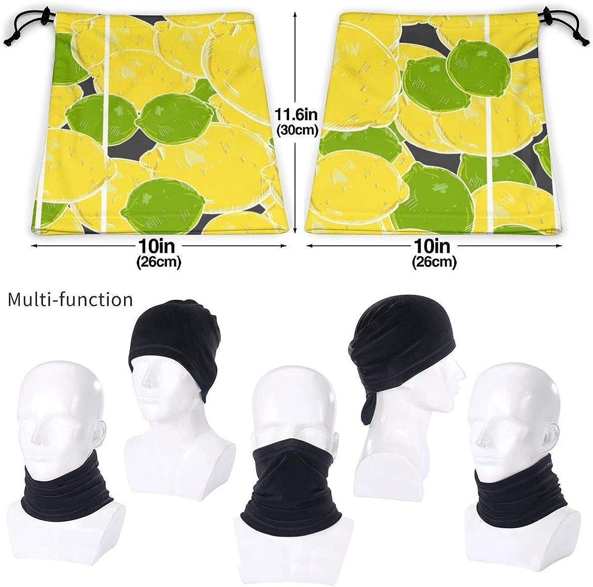 SLHFPX Neck Gaiter Face Mask Vector Lemons And Limes Half Balaclava Ski Masks for Women Men Adult