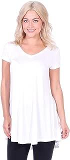 Women's Tunic Tops for Leggings Short Sleeve Summer Shirt Made in USA