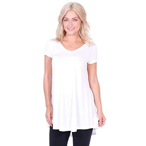 afab6cc88a9 Popana Women's Tunic Tops for Leggings Short Sleeve Summer Shirt Made in USA