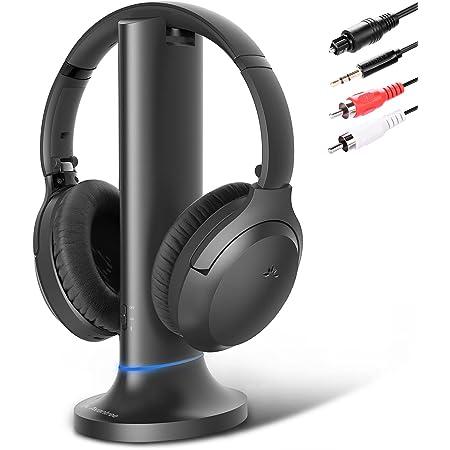 Avantree Opera Enhanced Dialogue Wireless TV Headphones, Simultaneous Audio Through Soundbar & Bluetooth Headphones, No Audio Lag, 35H Battery Life [2020 Model]