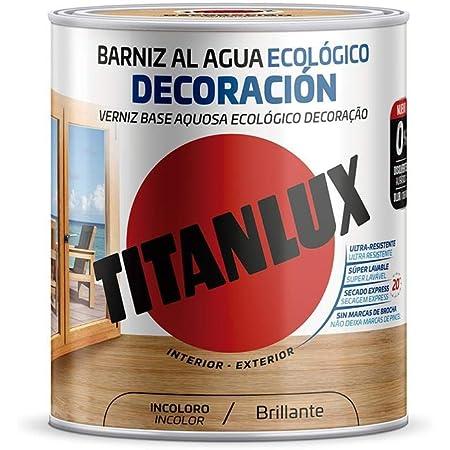 Titanlux - Barniz Ecológico Brillante para madera (250 ml, Castaño 1001)