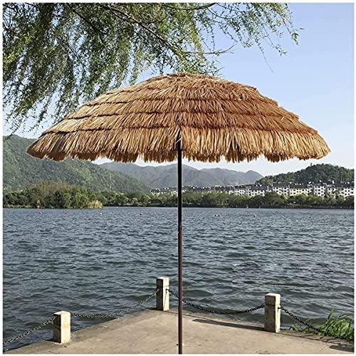Paraguas Hawaiano Tiki con Techo de Paja, Impermeable, al Aire Libre, Sunbrella, inclinación, 45 °, Redondo, Patio, jardín, sombrilla para césped, Piscina, Patio Trasero